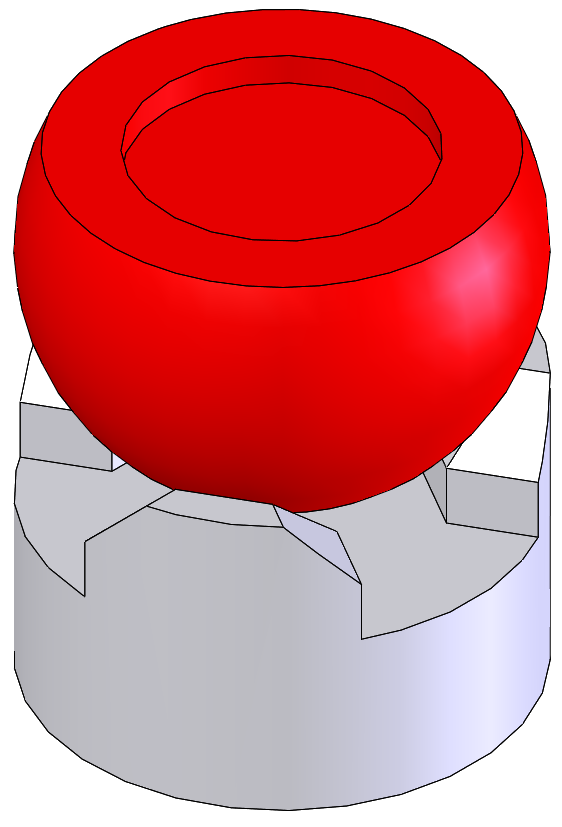 A trihedral socket with 3 point contact for use in kinematic mounts