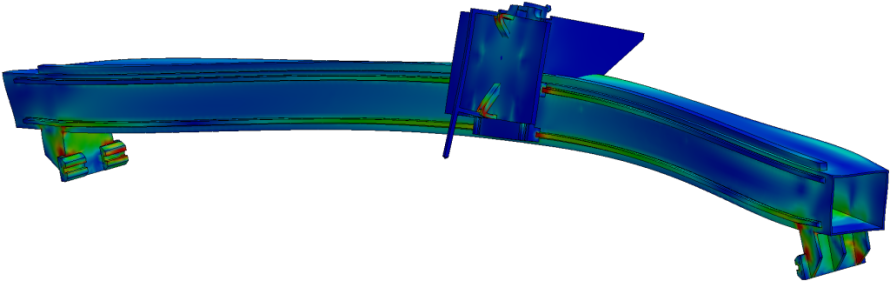 Finite element analysis of a high precision machine tool beam