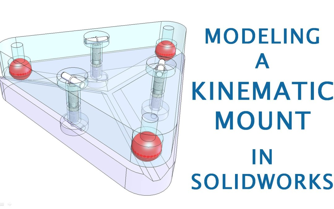 Modeling and Design of a Kinematic Mount in CAD (Using SolidWorks)